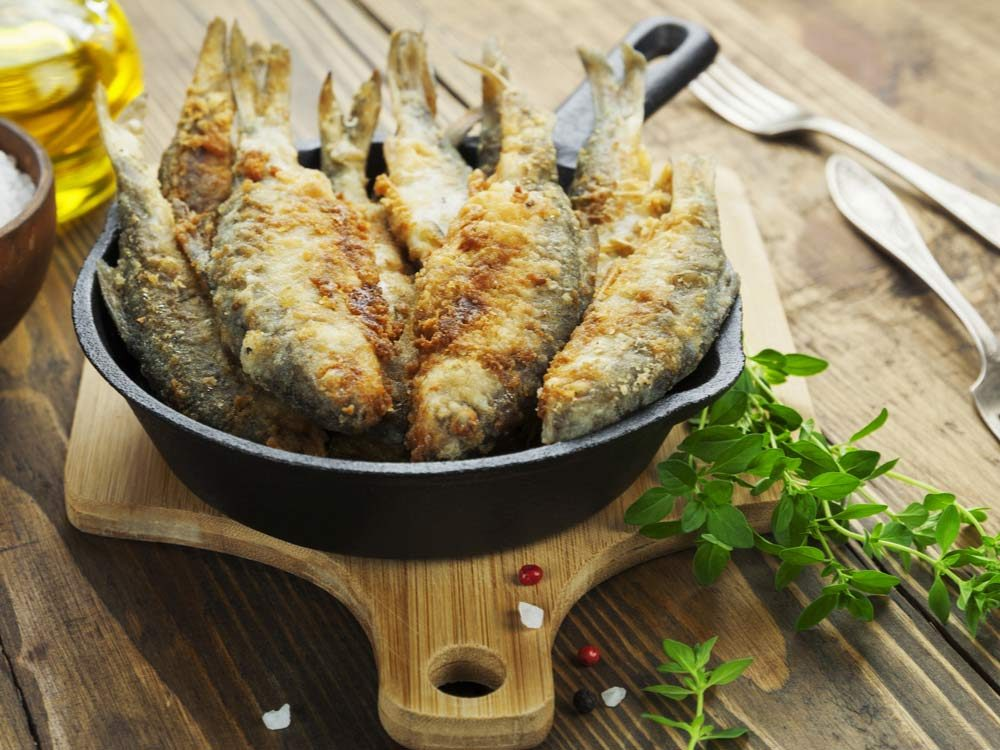 Fried whole fish