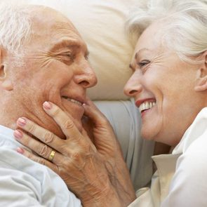 Sex after 50 - senior couple in bed