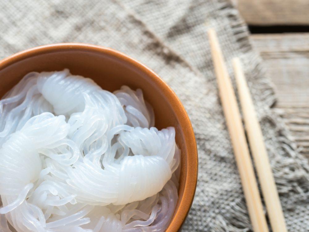 Shirataki noodles are a healthy pasta alternative