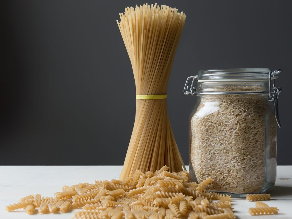 Brown rice pasta is a healthy pasta alternative