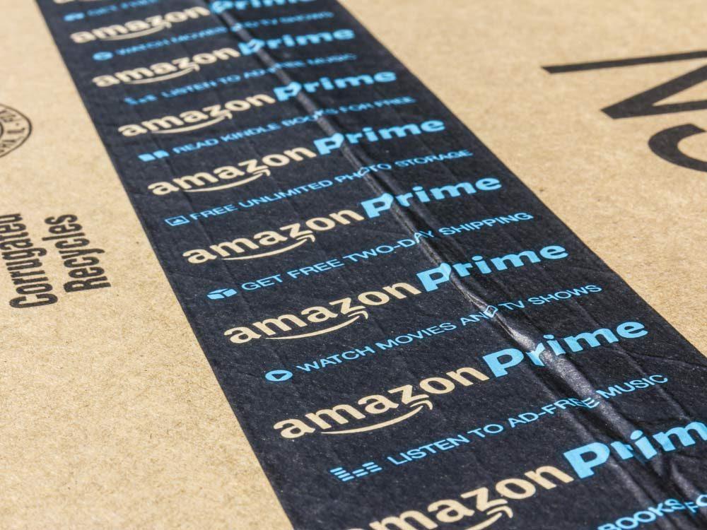 Amazon's name on a box