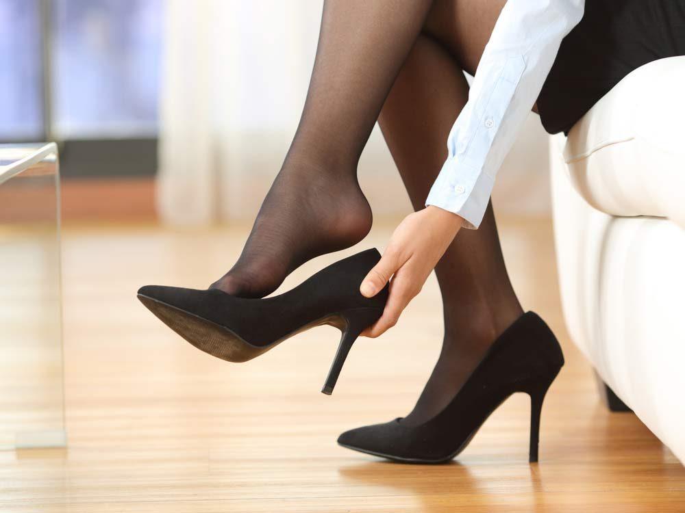 Stylish black high heels