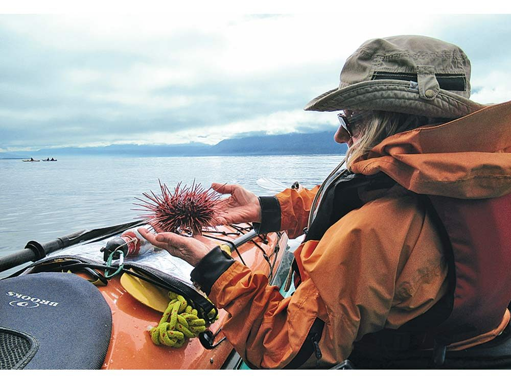 Helen with a sea urchin