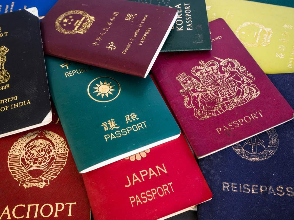 Different passport colours