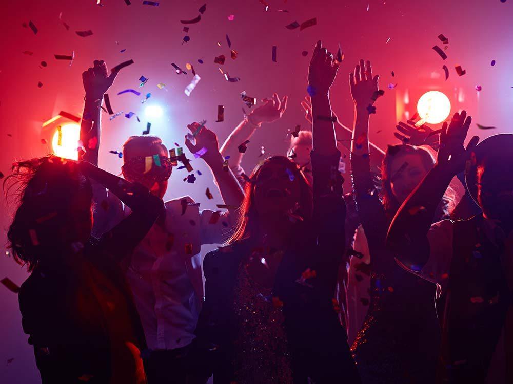 Dancing at club