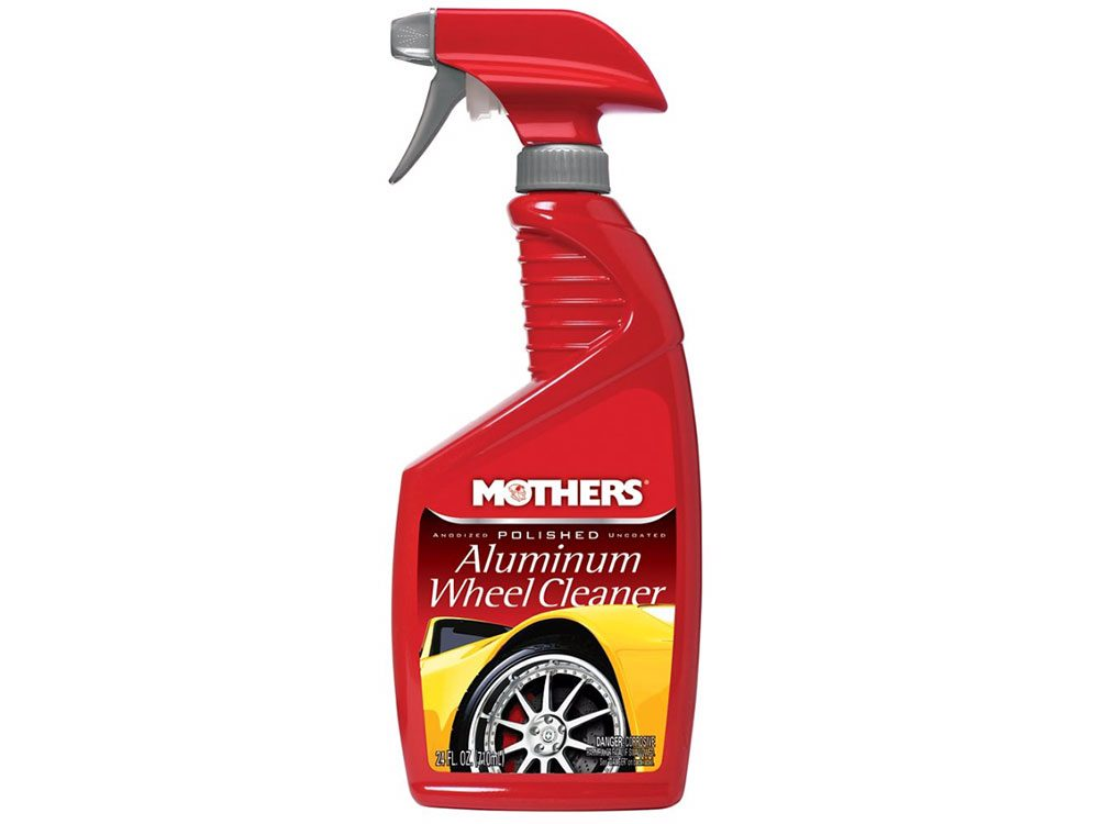 Car cleaning accessories: Mother's polished aluminum wheel cleaner