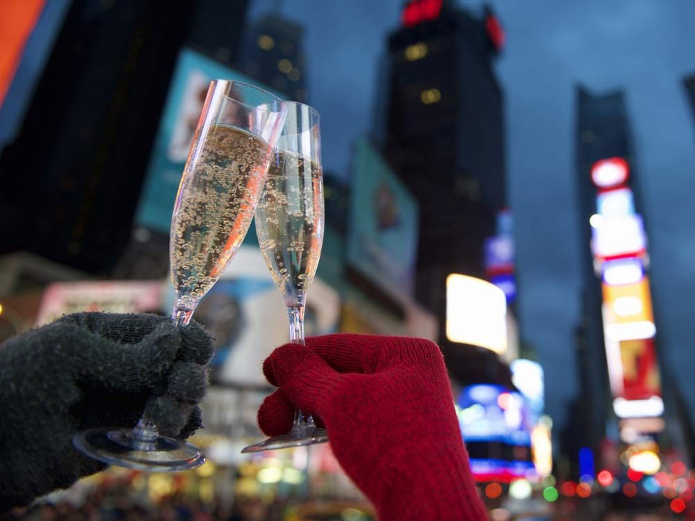 Champagne on New Year's Eve