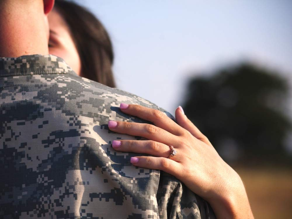 Soldier with this wife