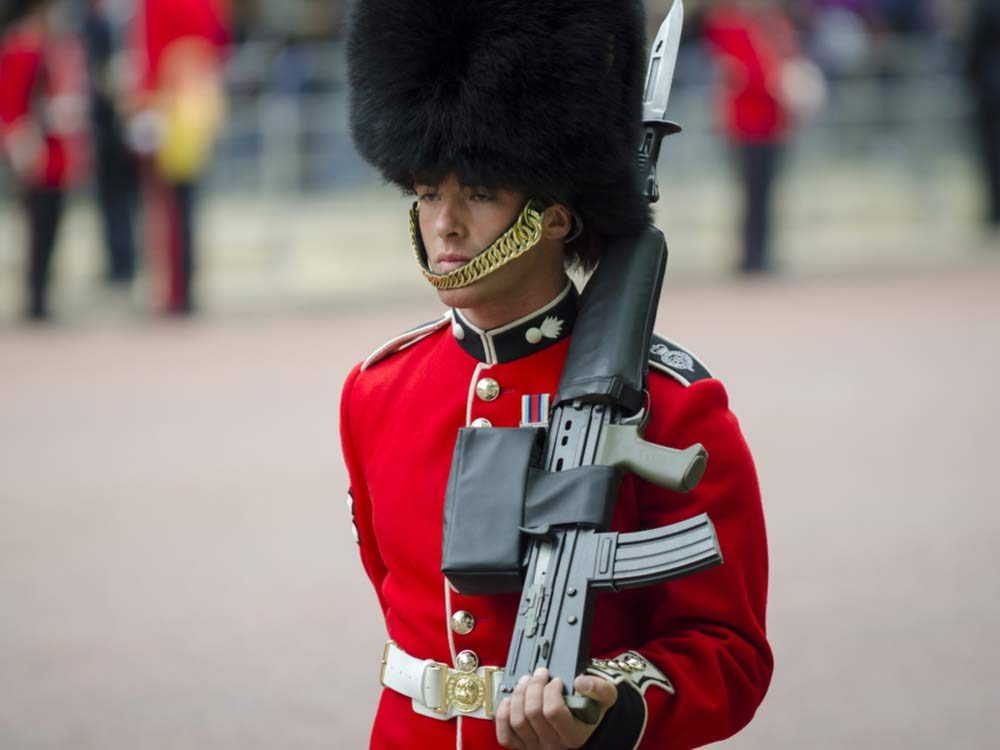 Royal guard with hat