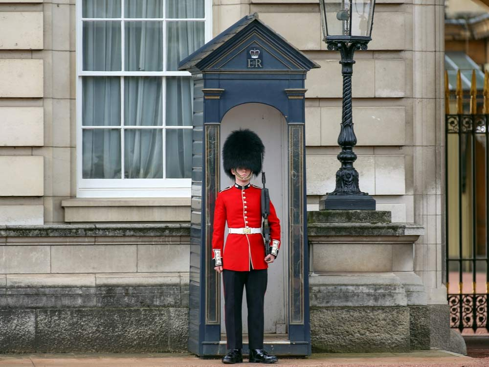 Royal guard standing still
