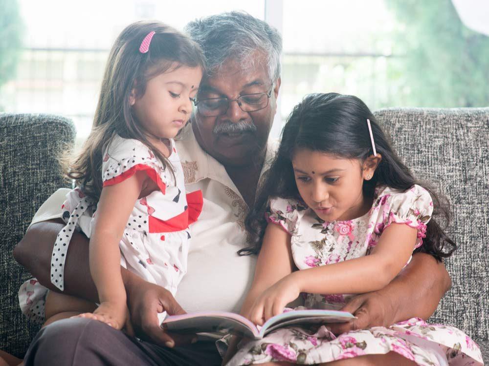 Grandparent with grandkids