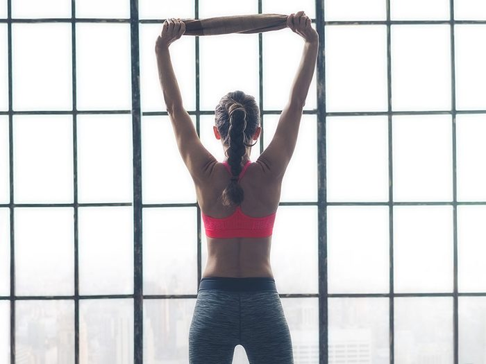 DIY Workout Equipment: Use a towel as a resistance band