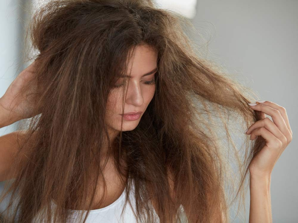 Woman with dry hair