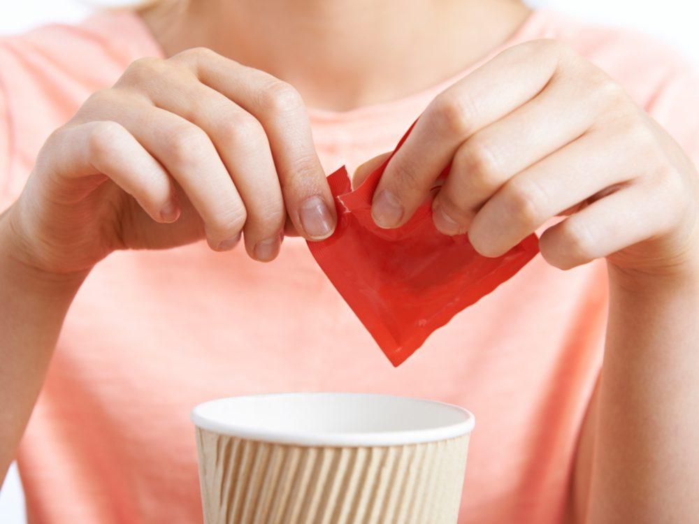 Sweetener in coffee