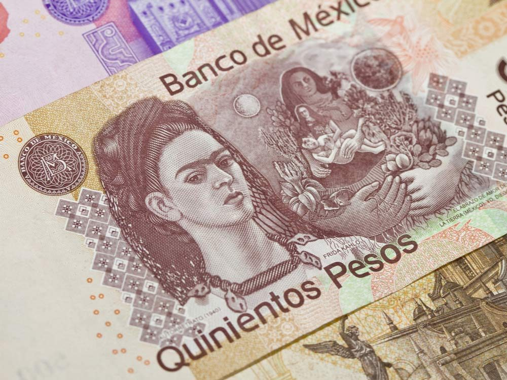 Frida Kahlo on Mexican banknote