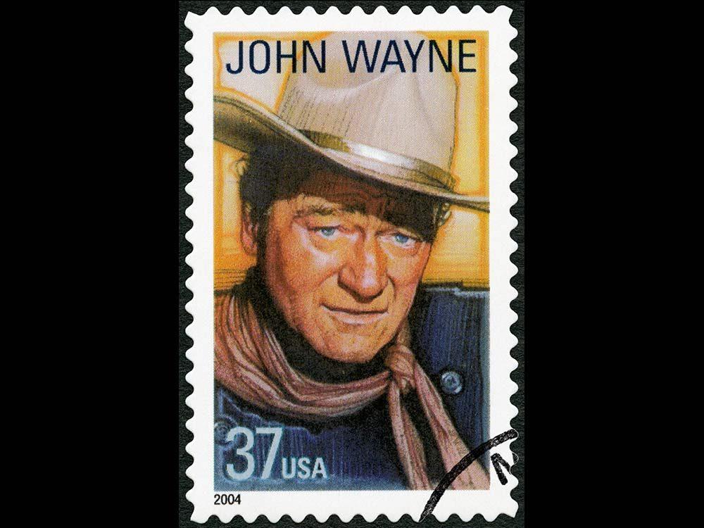 John Wayne postage stamp