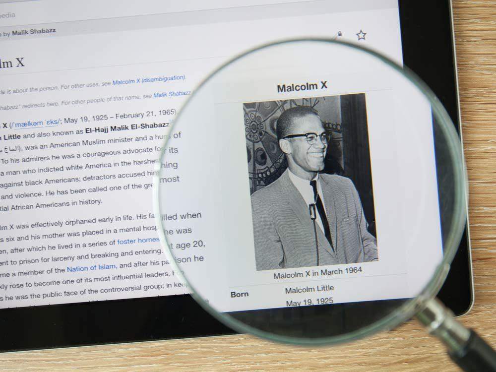 Malcolm X Wikipedia page