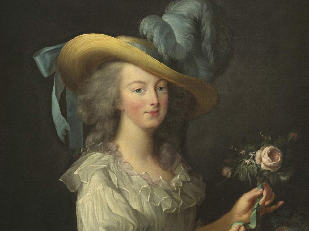Painting of French queen Marie Antoinette