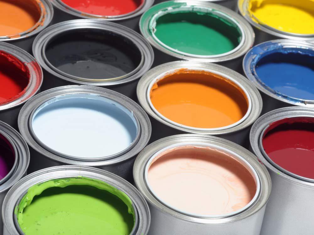 Paint can colour palette