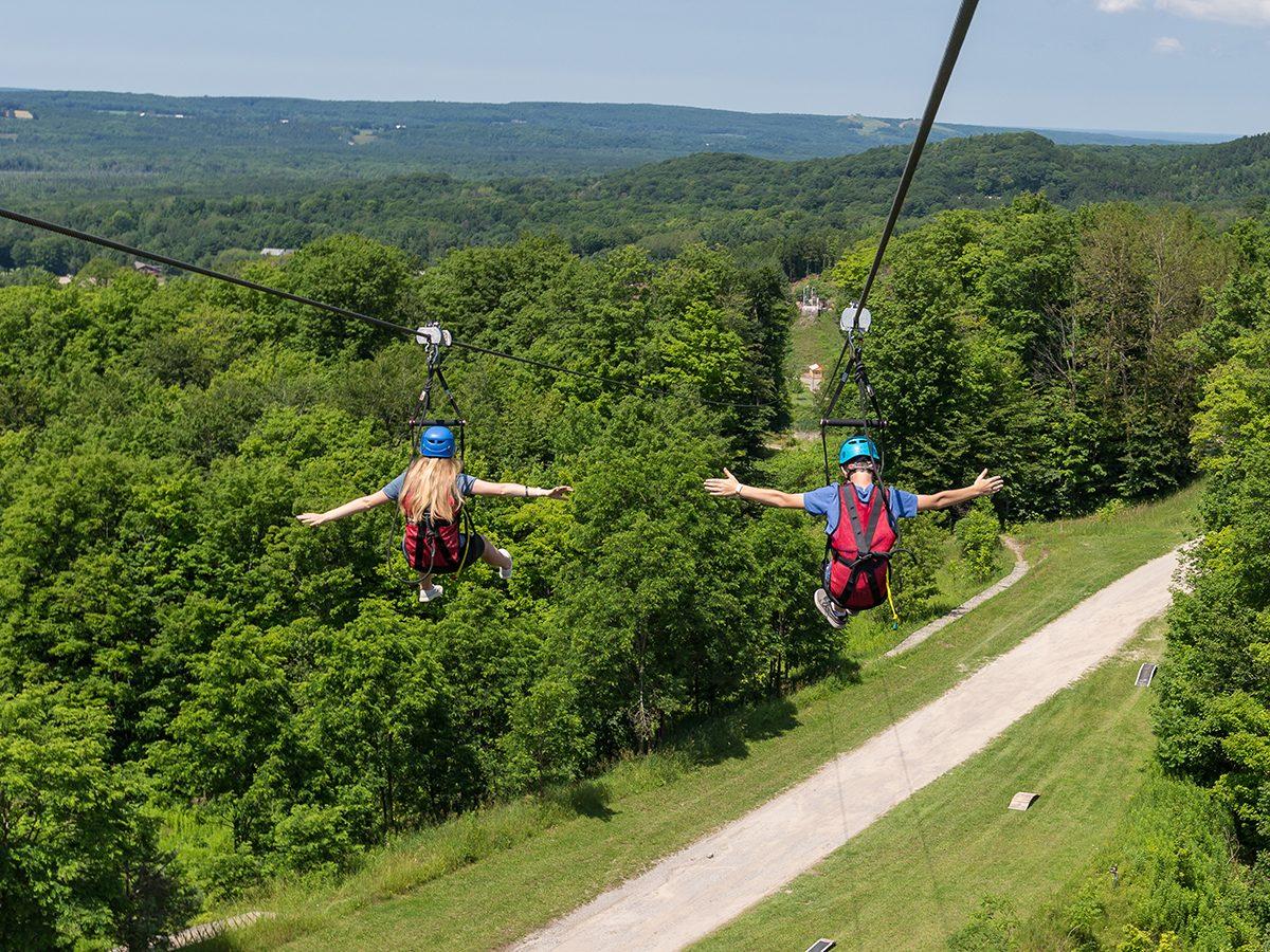 Day trips from Toronto - Horseshoe Resort zipline