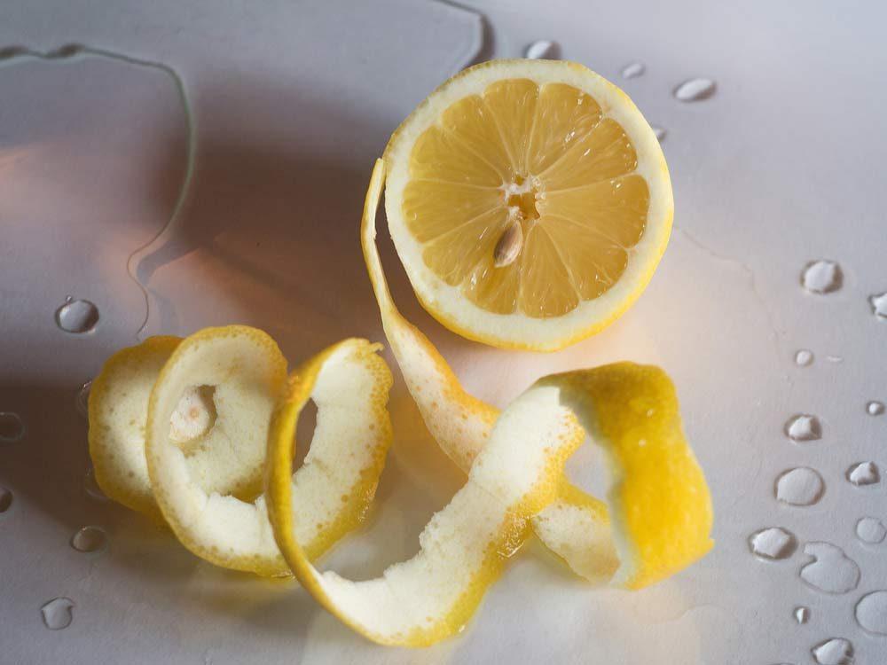 Lemon peel food parts