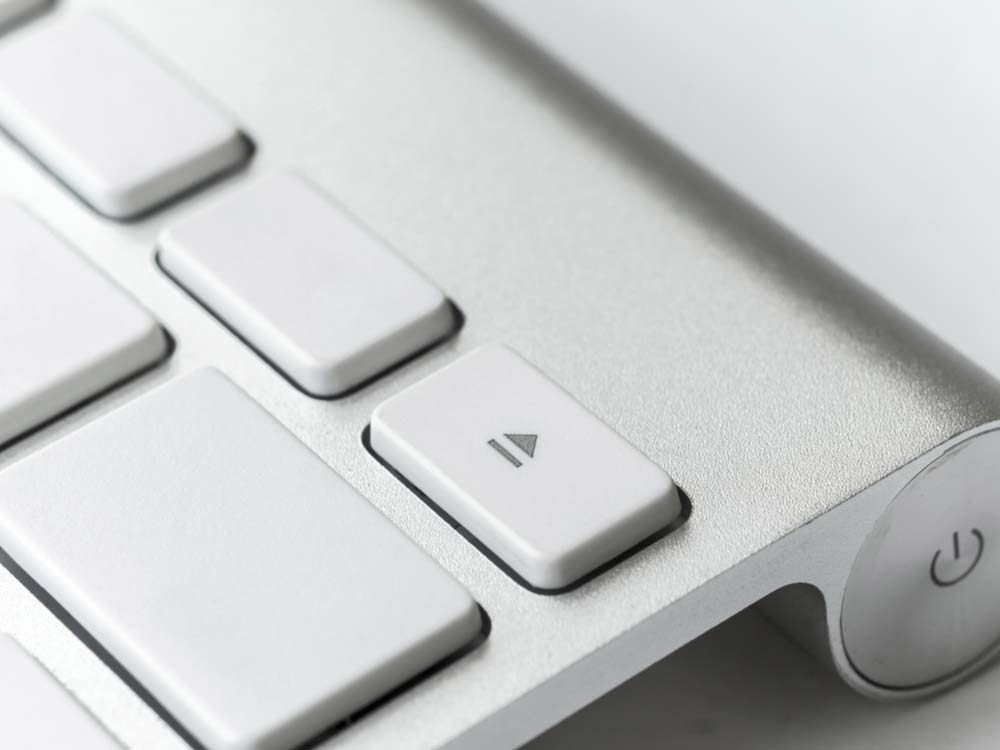 Eject button on Mac keyboard