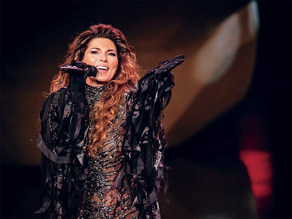 Shania Twain in concert