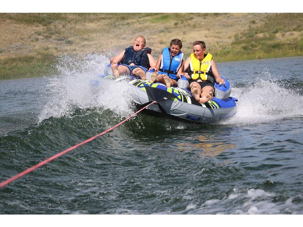 Fun boating day at the lake