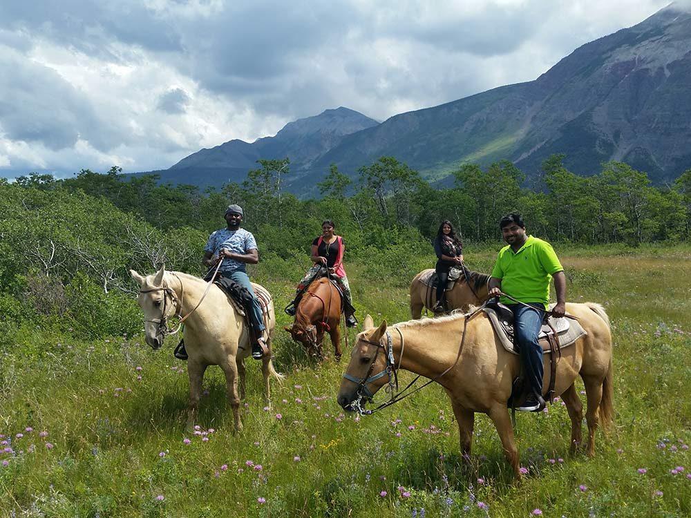 Horseback riding in Waterton, Alberta