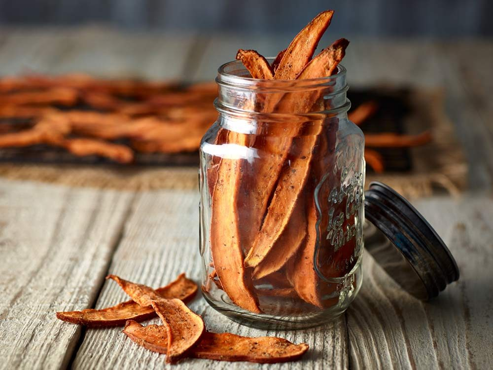 Sweet potato jerky