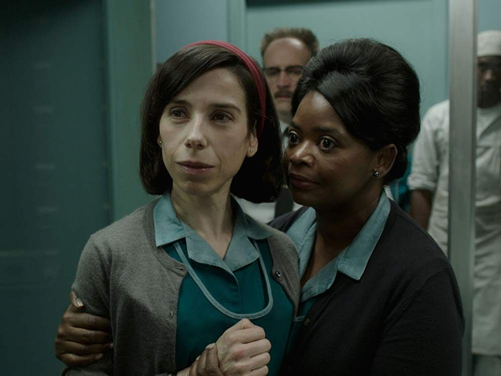 """Sally Hawkins and Octavia Spencer in """"The Shape of Water"""""""