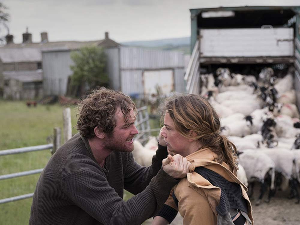 """Ruth Wilson and Mark Stanley in """"Dark River"""""""
