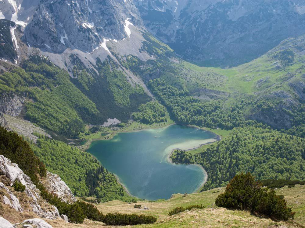 Trnovacko Lake in Montenegro