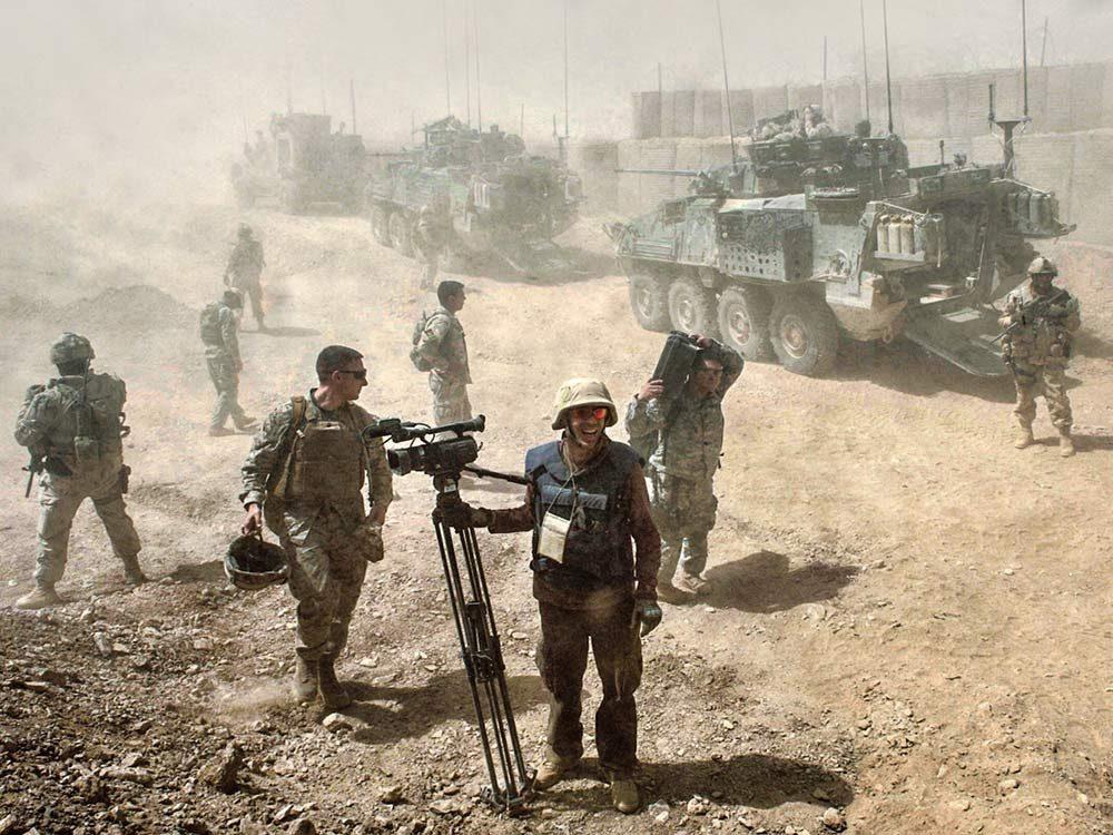 Battlefield in Afghanistan