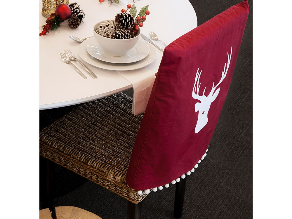 DIY Holiday Chair Cover