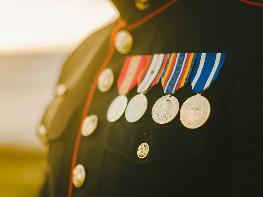 Marine with medals