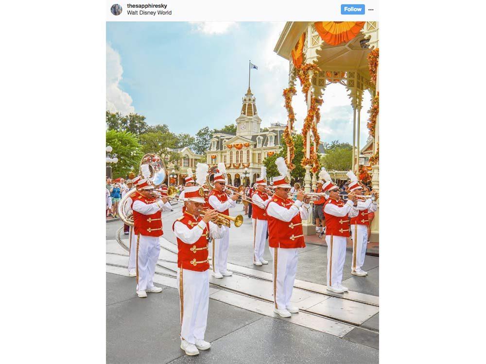 Marching band at Disney