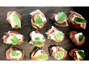 Prosciutto and Fresh Fig Crostini