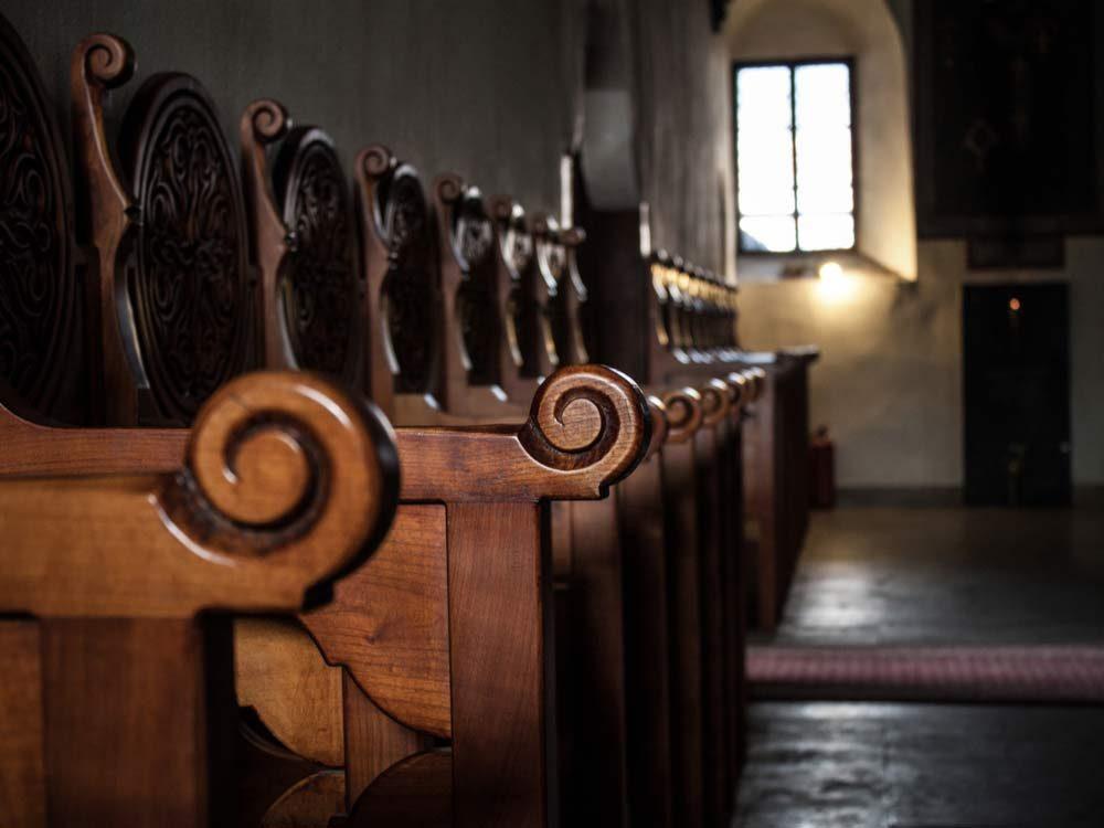 Interior of small church