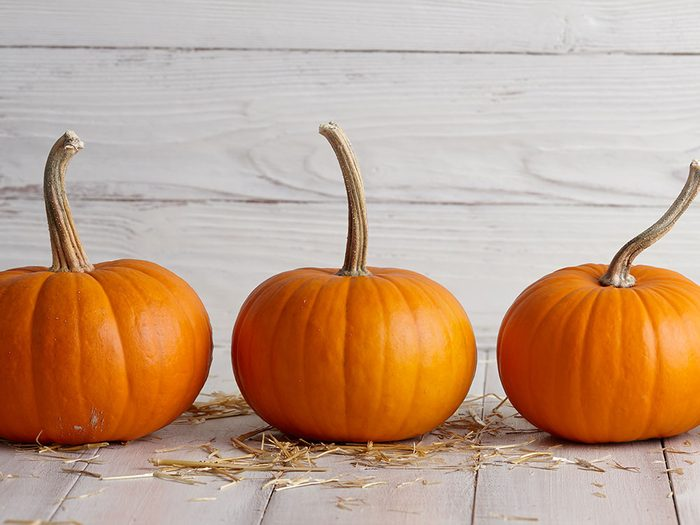 Store your pumpkin in a cool, dry place