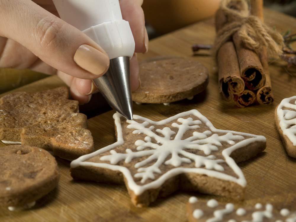 Icing on Christmas cookies