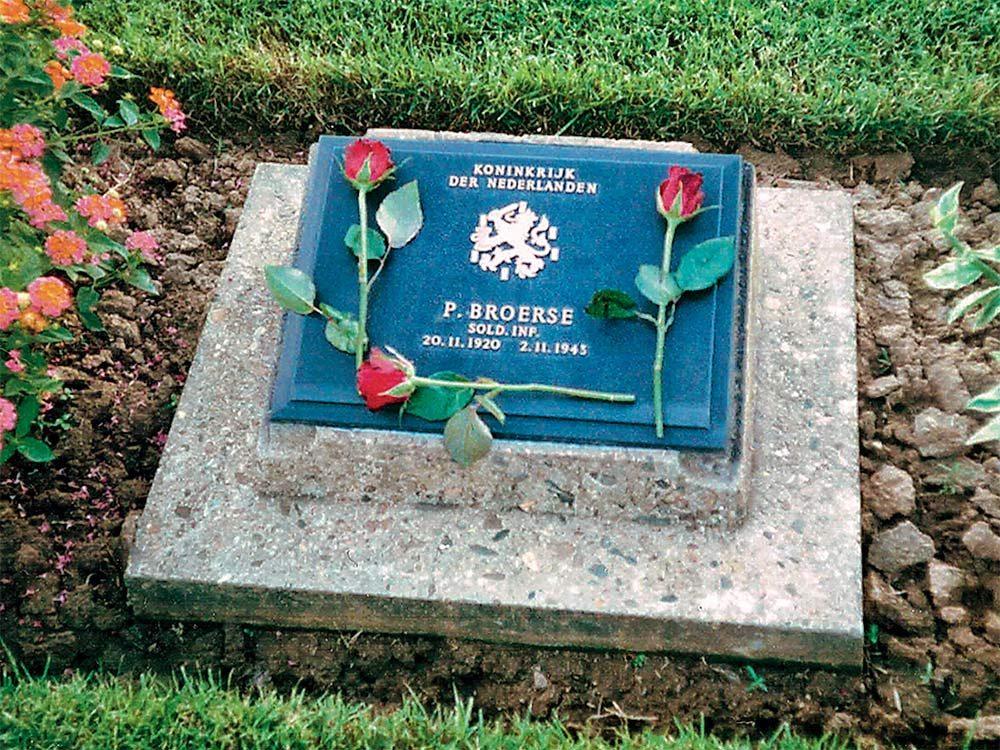 Pieter Broerse gravestone