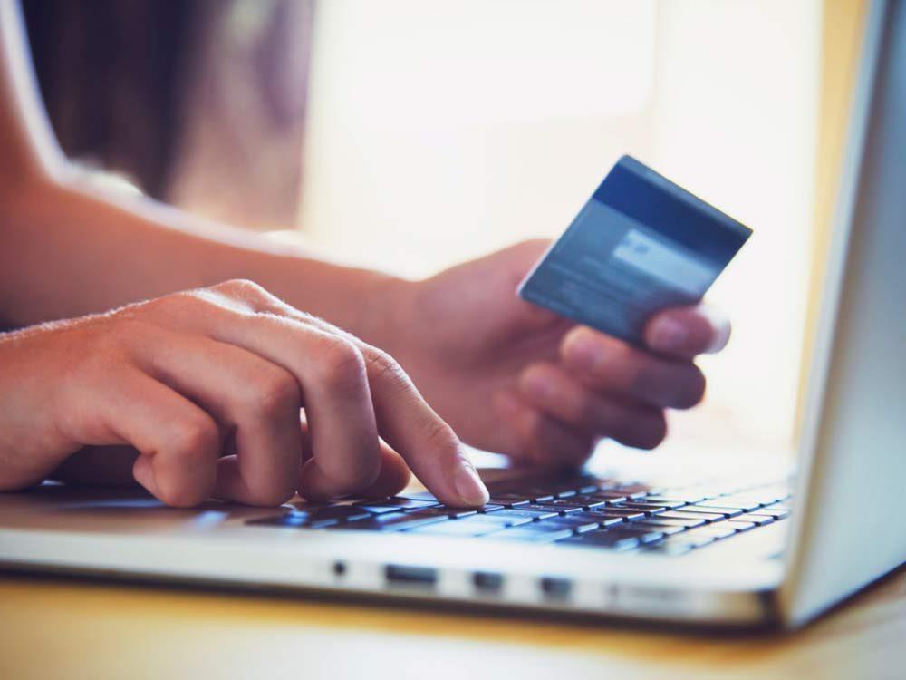 Woman shopping on Cyber Monday