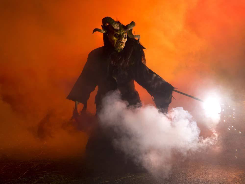 Man in Satan costume