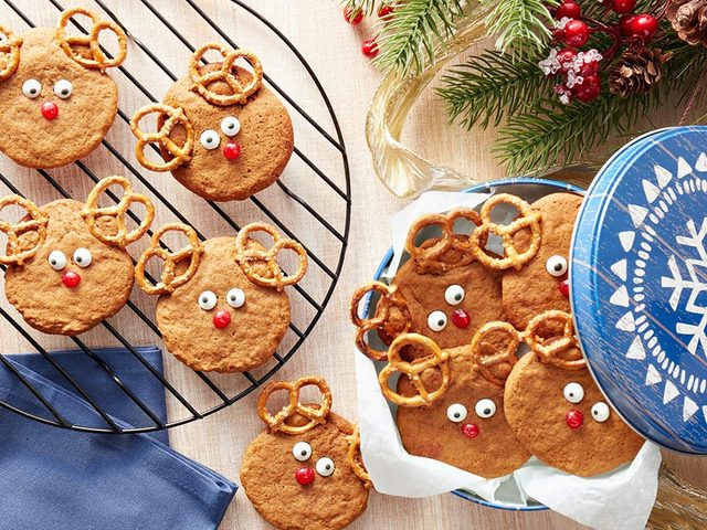 Ginger and molasses reindeer cookies