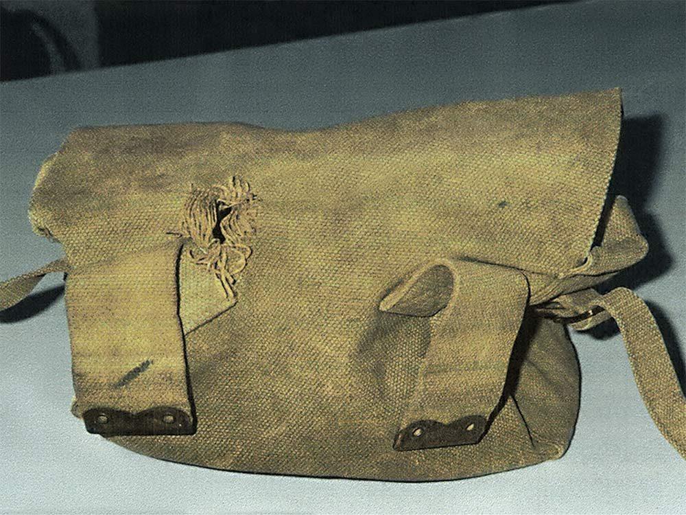 Canadian soldier's knapsack