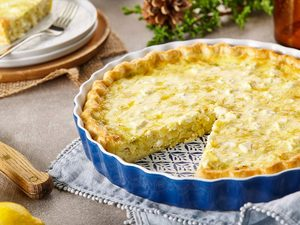 Lemon, Leek and Feta Quiche