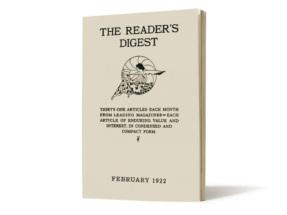 First issue of Reader's Digest