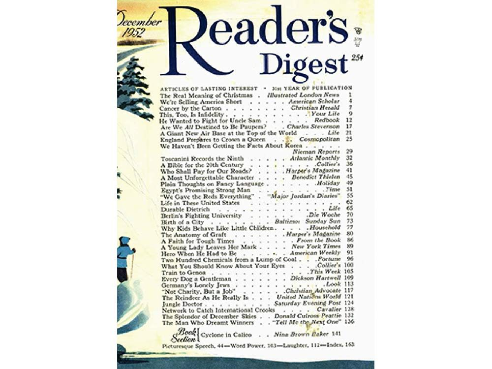 1952 issue of Reader's Digest Canada