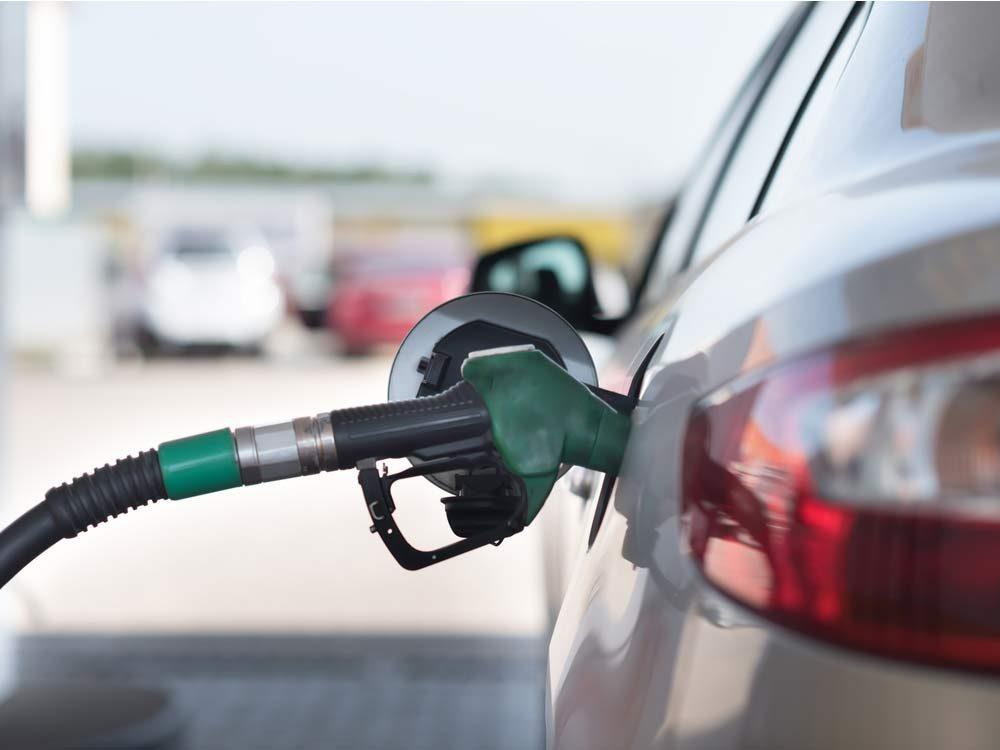 Car at gas station